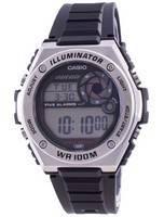 Casio Illuminator Digital MWD-100H-1A MWD100H-1 100M Men's Watch