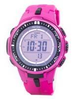 Casio Protrek Atomic Tough Solar Triple Sensor Pink PRW-3000-4B PRW3000-4B Men's Watch