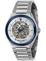 Maserati Triconic Skeleton Dial Automatic R8823139002 100M Men's Watch