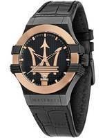 Relógio Maserati Potenza Black Dial Quartz R8851108032 100M Masculino