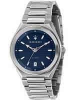 Maserati Triconic Blue Dial Quartz R8853139002 100M Relógio Masculino