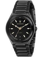 Relógio masculino Maserati Triconic Black Dial Quartz R8853139004 100M