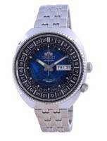 Orient World Map Revival Stainless Steel Automatic Diver's RA-AA0E03L19B 200M Men's Watch