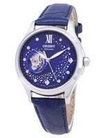 Orient Automatic RA-AG0018L10B Coração Aberto Dimond Acentos Relógio Feminino