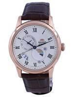 Relógio Clássico Orient Clássico Sol e Lua Champanhe RA-AK0007S10B Masculino