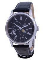 Relógio masculino Orient Sun & Moon Black Dial automático RA-AK0010B10B
