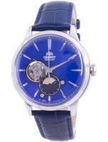 Orient Sun & Moon Phase Open Heart Dial automático RA-AS0103A10B relógio masculino