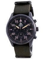 Orient Sports Flight Style Chronograph Green Dial Quartz RA-KV0501E10B Men's Watch