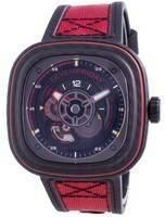 Sevenfriday P-Series Red Carbon Automatic P3C/04 SF-P3C-04 100M Men's Watch
