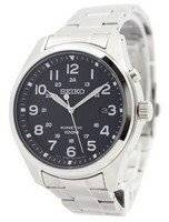 Relógio Seiko Kinetic mostrador preto 100m SKA721P1 SKA721P masculino
