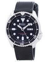 Seiko Automatic Diver Relação de Couro Preto SKX007J1-LS8 200M Men Watch
