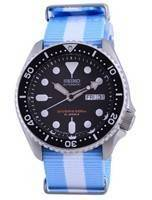 Seiko Automatic Diver's Japan Made Polyester SKX007J1-var-NATO24 200M Men's Watch