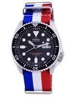 Seiko Automatic Diver's Japan Made Polyester SKX007J1-var-NATO25 200M Men's Watch