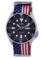 Seiko Automatic Diver's Japan Made Polyester SKX007J1-var-NATO27 200M Men's Watch
