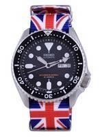 Seiko Automatic Diver's Japan Made Polyester SKX007J1-var-NATO28 200M Men's Watch
