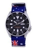 Seiko Automatic Diver's Japan Made Polyester SKX007J1-var-NATO30 200M Men's Watch