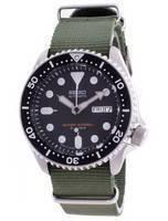 Relógio masculino SKX007J1-var-NATO9 200M do mergulhador automático da Seiko