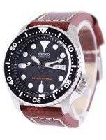 Seiko Automatic Diver's Ratio Brown Leather SKX007K1-LS1 200M Men's Watch