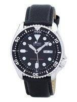 Seiko Automatic Diver's 200M Ratio Black Leather SKX007K1-LS10 Men's Watch