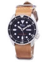 Seiko Automatic SKX007K1-LS18 Mergulhador 200M Relógio De Couro Marrom Homens De Correia