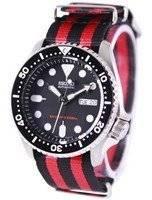 O relógio dos homens da correia NATO 200M OTAN do mergulhador automático de Seiko SKX007K1-NATO3