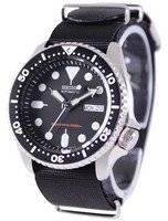 O relógio dos homens da correia NATO 200M OTAN do mergulhador automático de Seiko SKX007K1-NATO4
