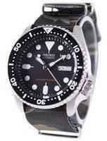 Seiko Automatic Diver 200 M Exército NATO Strap SKX007K1-NATO5 Relógio dos homens
