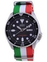 Relógio masculino Seiko Diver automático de poliéster SKX007K1-var-NATO23 200M