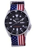 Relógio masculino de poliéster SKX007K1-var-NATO27 200M do mergulhador automático da Seiko