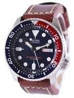 Seiko Automatic Diver's Ratio Brown Leather SKX009J1-LS1 200M Men's Watch