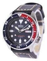 Seiko Automatic Diver's Ratio Black Leather SKX009J1-LS2 200M Men's Watch
