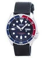 Seiko Automatic Diver's Ratio Black Leather SKX009J1-LS8 200M Men's Watch