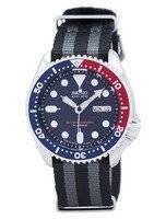 Relógios NATO Strap 200M SKX009J1-NATO1 dos homens Seiko Automatic Diver