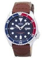 Cinta de lona do mergulhador automático Seiko SKX009J1-NS1 200M Men Watch