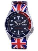 Seiko Automatic Diver's Polyester Japan Made SKX009J1-var-NATO28 200M Men's Watch