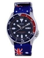 Seiko Automatic Diver's Polyester Japan Made SKX009J1-var-NATO30 200M Men's Watch