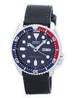 Seiko Automatic Diver's 200M Ratio Black Leather SKX009K1-LS8 Men's Watch