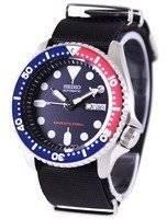 O relógio dos homens da correia NATO 200M NATO do mergulhador de Seiko SKX009K1-NATO4