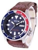 Relógio Nylon Strap SKX009K1-NS1 200M masculino do Seiko Automatic Diver