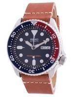 Relógio masculino azul profundo SKX009K1-var-LS21 200M do mergulhador automático Seiko