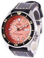 Seiko Automatic Diver's Ratio Black Leather SKX011J1-LS2 200M Men's Watch