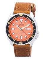 Seiko Automatic Diver's Ratio Brown Leather SKX011J1-LS9 200M Men's Watch