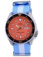Seiko Automatic Diver's Japan Made Polyester SKX011J1-var-NATO24 200M Men's Watch