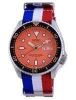 Seiko Automatic Diver's Japan Made Polyester SKX011J1-var-NATO25 200M Men's Watch