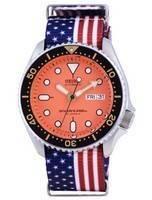 Seiko Automatic Diver's Japan Made Polyester SKX011J1-var-NATO27 200M Men's Watch