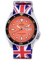 Seiko Automatic Diver's Japan Made Polyester SKX011J1-var-NATO28 200M Men's Watch