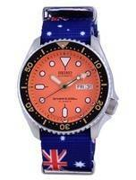 Seiko Automatic Diver's Japan Made Polyester SKX011J1-var-NATO30 200M Men's Watch