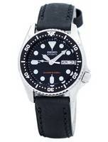 Seiko Automatic Diver's 200M Ratio Black Leather SKX013K1-LS4 Men's Watch