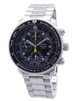 Seiko SNA411 SNA411P1 SNA411P Pilot's Flight Alarm Chronograph Men's Watch