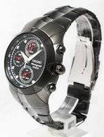 Seiko Chronograph Black Dial Alarm Chronograph  Watch SNA765P1